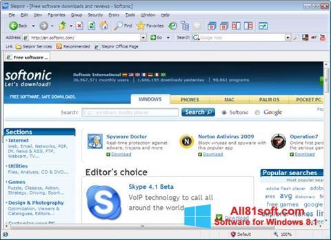 स्क्रीनशॉट Sleipnir Windows 8.1