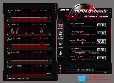स्क्रीनशॉट ASUS GPU Tweak Windows 8.1