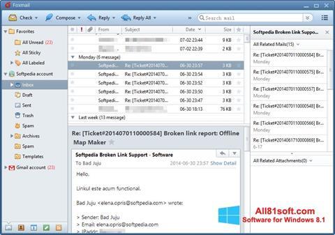 स्क्रीनशॉट FoxMail Windows 8.1