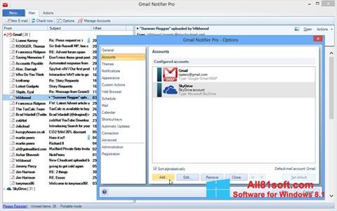 स्क्रीनशॉट Gmail Notifier Windows 8.1