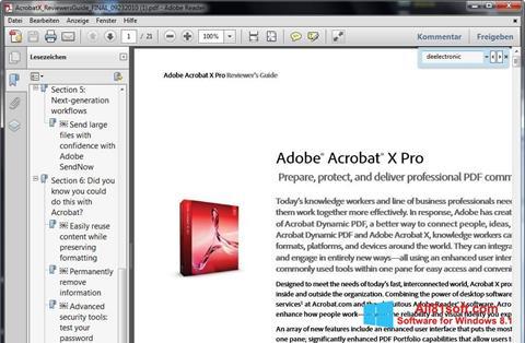 स्क्रीनशॉट Adobe Reader Windows 8.1