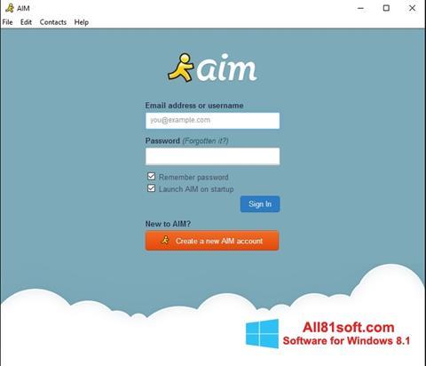 स्क्रीनशॉट AOL Instant Messenger Windows 8.1
