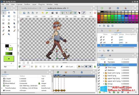 स्क्रीनशॉट Synfig Studio Windows 8.1