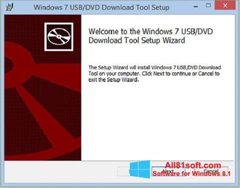 स्क्रीनशॉट Windows 7 USB DVD Download Tool Windows 8.1