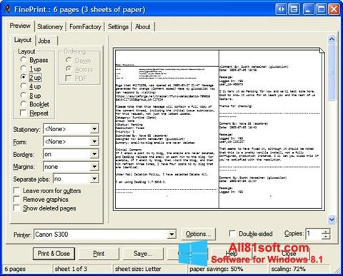 स्क्रीनशॉट FinePrint Windows 8.1