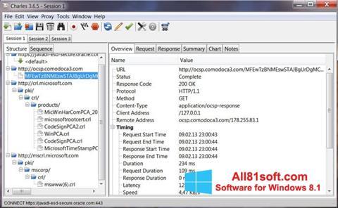 स्क्रीनशॉट Charles Windows 8.1