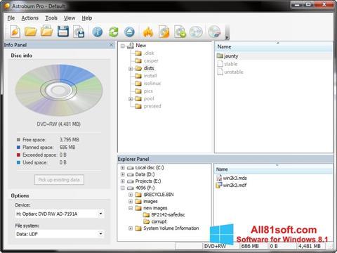 स्क्रीनशॉट Astroburn Lite Windows 8.1