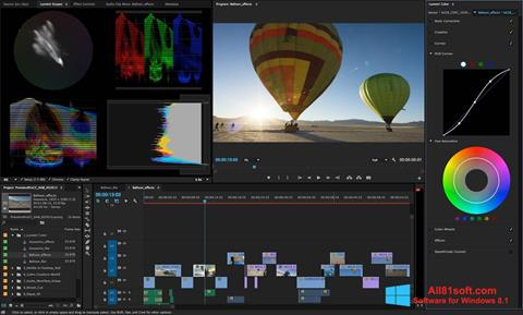 स्क्रीनशॉट Adobe Premiere Pro Windows 8.1