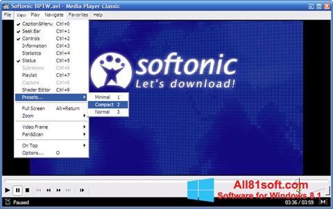 स्क्रीनशॉट Media Player Classic Windows 8.1