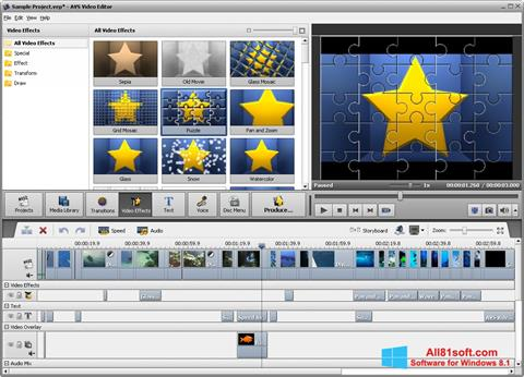 स्क्रीनशॉट AVS Video Editor Windows 8.1