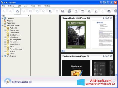 स्क्रीनशॉट PDF24 Creator Windows 8.1