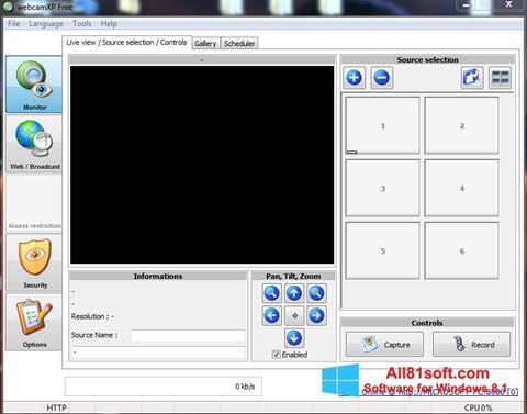 स्क्रीनशॉट webcamXP Windows 8.1