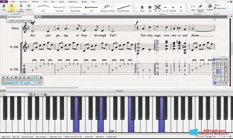 स्क्रीनशॉट Sibelius Windows 8.1
