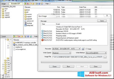 स्क्रीनशॉट UltraISO Windows 8.1