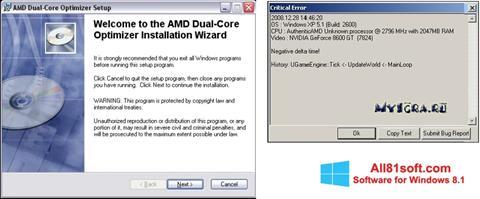 स्क्रीनशॉट AMD Dual Core Optimizer Windows 8.1
