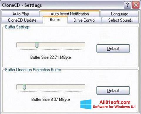 स्क्रीनशॉट CloneCD Windows 8.1