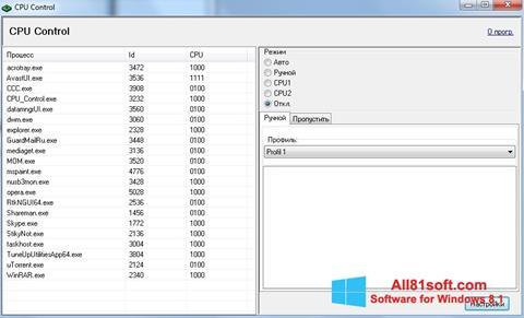 स्क्रीनशॉट CPU-Control Windows 8.1