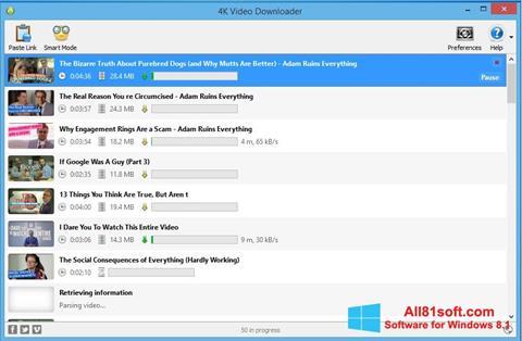 स्क्रीनशॉट 4K Video Downloader Windows 8.1