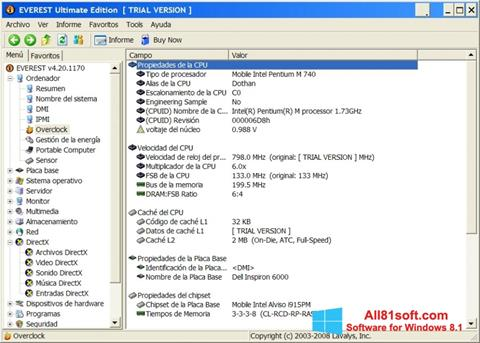 स्क्रीनशॉट EVEREST Ultimate Edition Windows 8.1