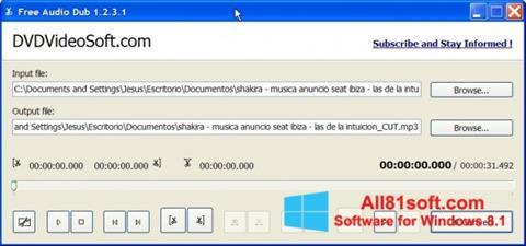 स्क्रीनशॉट Free Audio Dub Windows 8.1