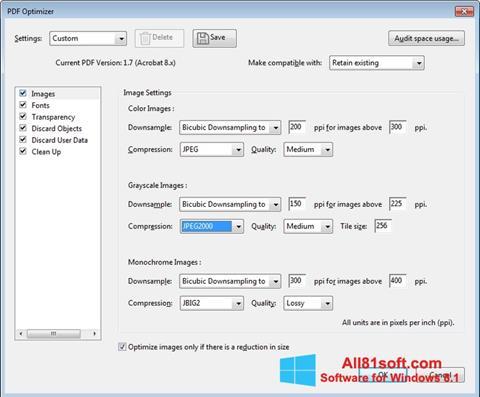 स्क्रीनशॉट Adobe Acrobat Pro DC Windows 8.1