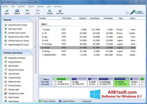 स्क्रीनशॉट AOMEI Partition Assistant Windows 8.1