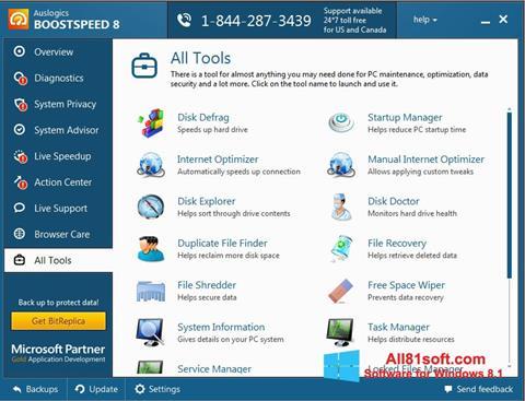 स्क्रीनशॉट Auslogics BoostSpeed Windows 8.1