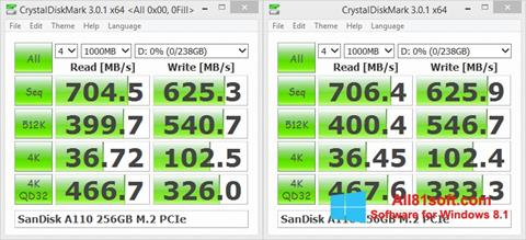 स्क्रीनशॉट CrystalDiskMark Windows 8.1