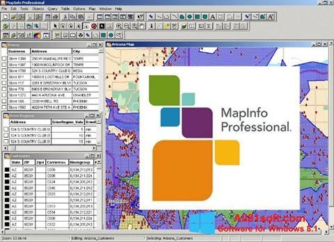 स्क्रीनशॉट MapInfo Professional Windows 8.1