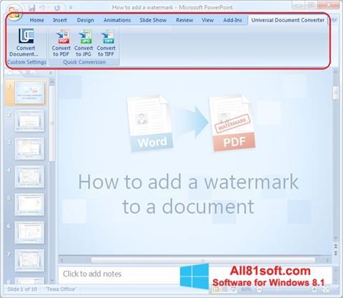 स्क्रीनशॉट Microsoft PowerPoint Windows 8.1