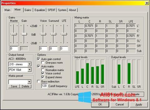 स्क्रीनशॉट AC3 Codec Windows 8.1
