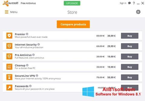 स्क्रीनशॉट Avast Free Antivirus Windows 8.1