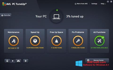 स्क्रीनशॉट AVG PC Tuneup Windows 8.1