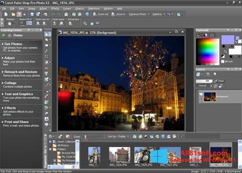 स्क्रीनशॉट PaintShop Pro Windows 8.1