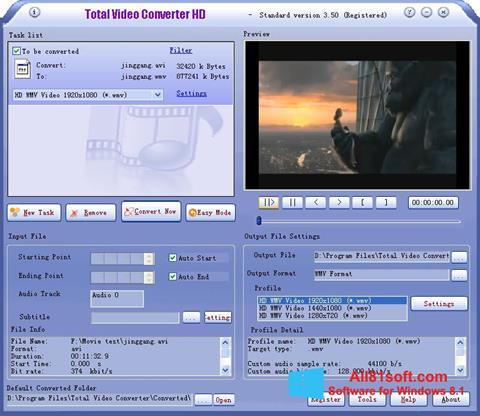 स्क्रीनशॉट Total Video Converter Windows 8.1