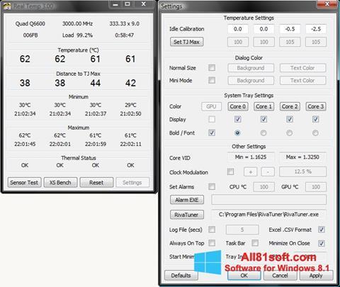स्क्रीनशॉट Real Temp Windows 8.1