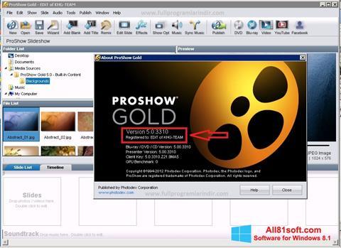 स्क्रीनशॉट ProShow Gold Windows 8.1