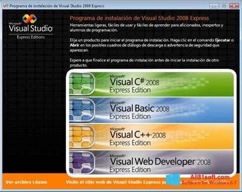 स्क्रीनशॉट Microsoft Visual Studio Windows 8.1