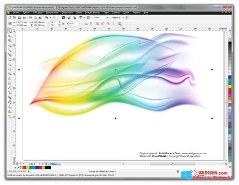 स्क्रीनशॉट CorelDRAW Windows 8.1