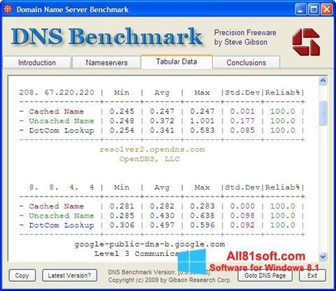 स्क्रीनशॉट DNS Benchmark Windows 8.1