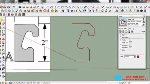 स्क्रीनशॉट SketchUp Windows 8.1