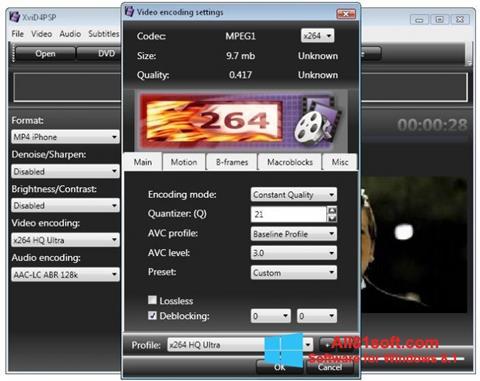 स्क्रीनशॉट XviD4PSP Windows 8.1