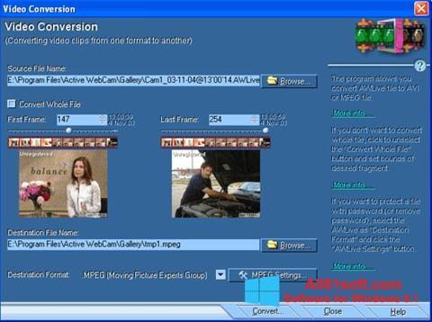स्क्रीनशॉट Active WebCam Windows 8.1