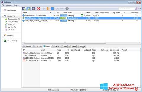 स्क्रीनशॉट BitTorrent Windows 8.1
