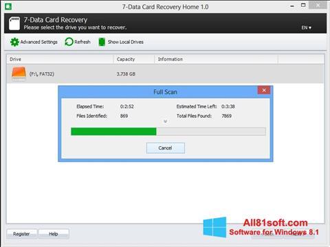 स्क्रीनशॉट CardRecovery Windows 8.1