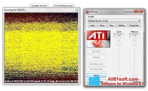 स्क्रीनशॉट ATITool Windows 8.1
