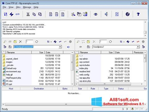 स्क्रीनशॉट Core FTP Windows 8.1