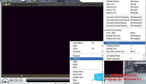 स्क्रीनशॉट GOM Player Windows 8.1