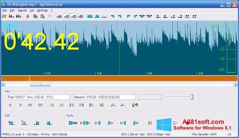 स्क्रीनशॉट mp3DirectCut Windows 8.1