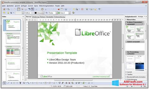 स्क्रीनशॉट LibreOffice Windows 8.1